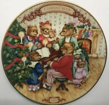 Vintage Avon Christmas Plate 1989 Together for Christmas Trimmed in 22k Gold