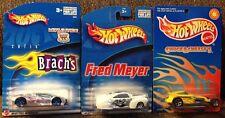Lot of 3 Hot Wheels Toy Vehicles NIP Chuck E Cheese's, Brach's, Fred Meyer