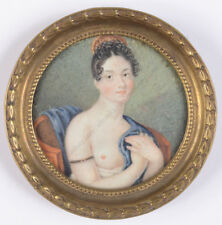 """""""Portrait of a semi-nude young lady"""", German miniature, ca. 1815"""