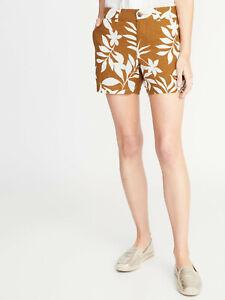 "Old Navy Linen Blend Palm Print 5"" Shorts  NWT"