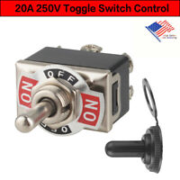 Heavy Duty 20A Toggle Switch Control DPDT 2 Pole Double Throw 6 Term On/Off US