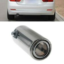 Universal Stainless Steel Car Rear Round Exhaust Pipe Tail Throat Muffler Tips