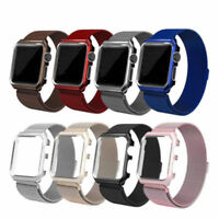 Milanese Stainless Steel Watch Band Strap + Case For Apple Watch Series 4/3/2/1