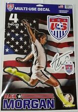 """Alex Morgan Multi Use Decals Stickers Cling 11"""" x 17"""" US Women's National Soccer"""