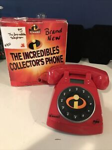 """Disney Pixar Telephone """"The Incredibles"""" Collector's Phone by SBC In Open Box"""