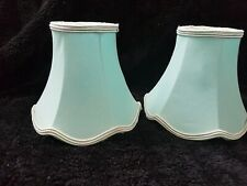 "2 x 5"" Clip On Wall Light Side Light Lampshades Green"