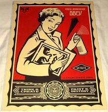 OBEY SHEPARD FAIREY OBEY X LEVI'S SPRAY CAN GIRL POSTER PRINT! MINT! SET #2 OF 4
