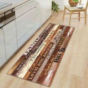 Kitchen Mat Bedroom Floor Living Room Carpet Wood grain Bathroom Anti-Slip Rug