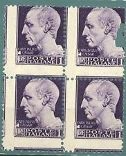 "ITALIA - Regno - 1929 - Serie ""Imperiale"" - 1 lira - Var. - Dent. fort. spost."