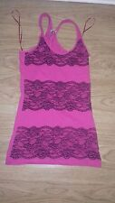 VGC SIZE 8 LONG LENGTH PINK VEST TOP RACER BACK