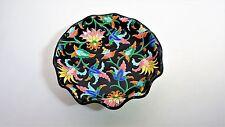 Longwy - Schüssel Kelch Dekor Blumen polychrome - Keramik flach