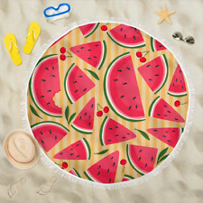 Watermelon Round Beach Camping Picnic Portable Outdoor Blanket