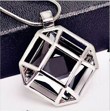 Stylish Pendant with sliver long chain necklace