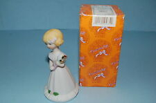 Enesco Growing up Girls Age 5 #5 5Th Blonde Figurine New Mib