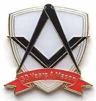 30 Years a Mason Masonic Commemorative Lapel Pin Badge No G