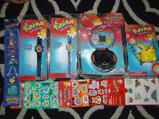 1998 1999 Pokemon Pokeball game pikachu charizard watch toothbrush stickers lot~