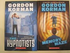 The Hypnotists/Memory Maze by Gordon Korman NEW Lot of 2 Hardcovers Ages 8-12