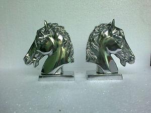 Aluminium Horse Head Bookend Figurine Sculpture Statue us