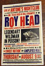 "ROY HEAD Orig ANTONE'S 2012 Concert Poster ""Treat Her Right"" TEXAS doug sahm"