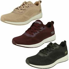 Ladies Skechers Bobs Squad - Total Glam 32502 Lace Up Trainers