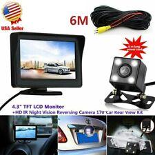 "Funk Kabellos Rückseiten Kamera Kit 4.3"" LCD Monitor Rückfahrkamera Set Bus LKW"