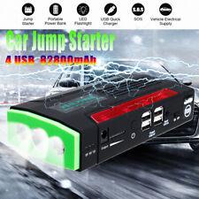 82800mAh 12V LCD 4 USB Car Jump Starter Charger Battery Power Bank LED Emergency