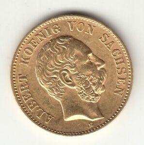 Goldmünze 20 Mark Albert von Sachsen 1894 vz
