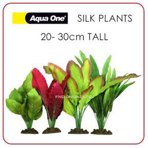4 Pack AQUARIUM SILK PLANTS Artificial Fish Tank DECOR Soft Plastic Decoration