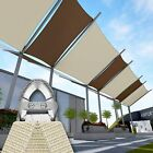 18' x 22' Rectangle Square Steel Wire Heavy Duty Sun Shade Sail Canopy Awning