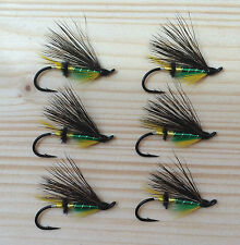 Green Highlander Atlantic Salmon Flies - 6 Fly MULTI-PACK - Sizes 4, 6 and 8