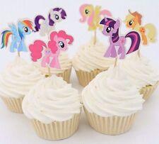 24pcs My Little Pony Cupcake Cake Topper Decoration Kids Birthday Party Cartoon