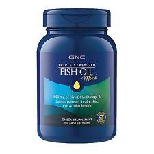 GNC Triple Strength Fish Oil Mini(120 Mini Softgels)-1000 mg of EPA/DHA Omega-3s