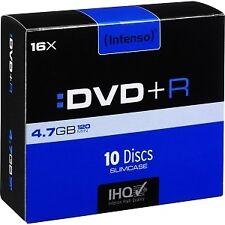 Consumible intenso DVD R 4.7gb 10pcs 16x caja Slim Rf.70100125