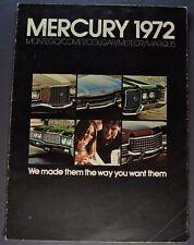 1972 Mercury Brochure Montego Comet Cougar Meteor Marquis Wagon Orig Canadian