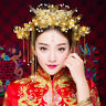 Phoenix Chinese Wedding Hair Accessories Jewelry Gold Color Long Tassel Hairpins