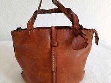Japanische Leder Tasche Motto Cognac Vintage