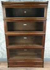 More details for antique oak globe wernicke barristers' library bookcase circa 1900