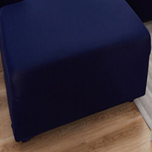 Square Ottoman Cover Footstool Protector Stretch Slipcover 70x70x40cm