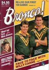 1991 SEPT-NOV BRONCOS MAGAZINE - CARNE/HAUFF COVER