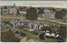 Sunday Afternoon The Common Royal Tunbridge Wells Vintage Postcard 1913