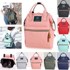 Men Women Fashion Canvas Backpack School Shoulder Bag Travel Satchel Rucksacks
