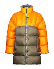 ACNE STUDIOS Orange & Khaki Green Down Wool Puffer Jacket [M UK36 IT46] [BNWT]