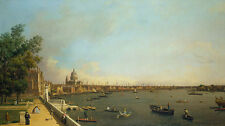 London: The Thames from Somerset House Terrace Canal England Fluß B A3 02083