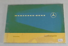Operating instructions mercedes Benz easily TRANSPORTER L 207/307 Stand 07/1973
