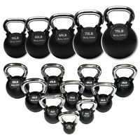 Body-Solid Premium Rubber Coat Chrome Handle Kettlebells exercise equipment
