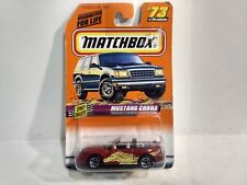 Matchbox Street Cruisers Ford Mustang Cobra Red Mattel 1:64 Scale Diecast mb841