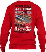 Fun Awesome Electrician - Everybody's An Until Gildan Long Sleeve Tee T-Shirt