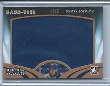 2015-16 Heroes and Prospects DMITRY SOKOLOV #GU-08 Game Used Jersey 4/45