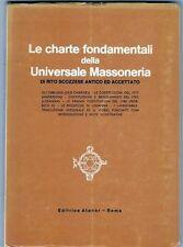 MASSONERIA - RITO SCOZZESE - CHARTE FONDAMENTALI