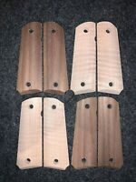 (4) Pairs Unfinished CNC Machined Full Size Colt 1911 grips Walnut & Curly Maple